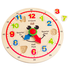 Wooden Happy Hour Learning Clock