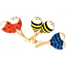 Large Wooden Maracas, set of 2