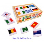 Wooden Memory Game - Flags of the World