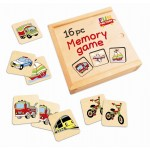 Wooden Memory Game - 16pc
