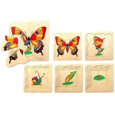 Butterfly Lifecyle Layered Puzzle