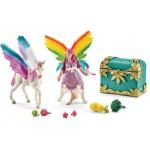 Schleich Bayala - Rainbow Elf Lis with Pegasus Foal